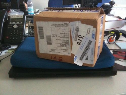Il pacco della Christmas Box HD Sky
